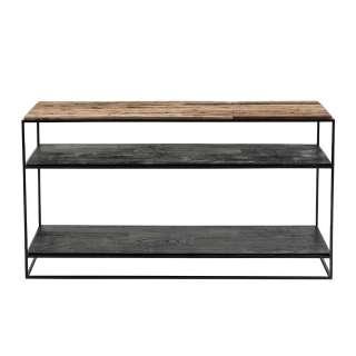 Konsolentisch aus Recyclingholz und Eisen 140 cm breit
