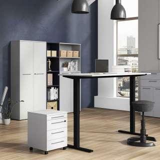 Büromöbel Set in Lichtgrau höhenverstellbarem Schreibtisch (5-teilig)
