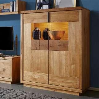 Fernsehmöbel aus Wildeiche Massivholz 170 cm breit
