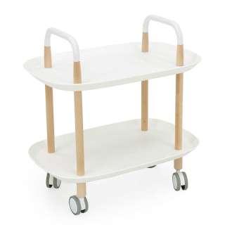 Küchenwagen in Weiß und Buche Skandi Design