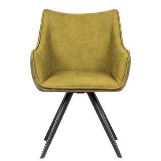 DELIFE Sitzbank Earnest 206x65 cm Braun Vintage mit Armlehne, Bänke