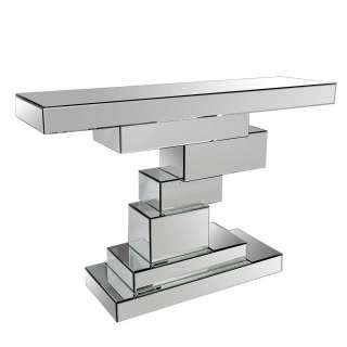 Design Konsolentisch aus Spiegelglas 80 cm hoch