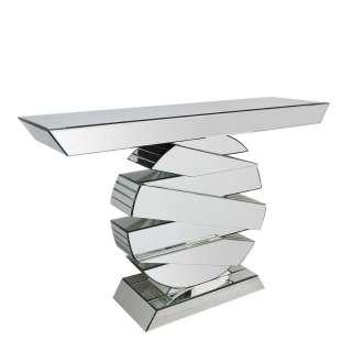 Designtisch aus Spiegelglas 80 cm hoch