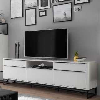 TV Schrank in Weiß und Schwarz 215 cm breit