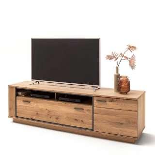 Fernsehtisch mit Asteiche furniert 210 cm breit