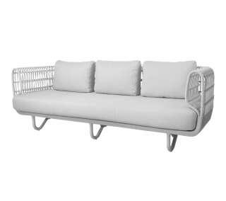 Cane-line Outdoor - Nest 3-Sitzer Sofa inkl. Kissensatz - Weiß - indoor