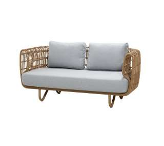Cane-line Outdoor - Nest 2-Sitzer Sofa inkl. Kissensatz - Natural - indoor