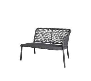 Cane-line Outdoor - Ocean 2-Sitzer Modulsofa links - Dark grey - indoor