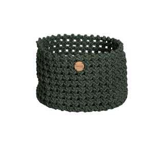 Cane-line Outdoor - Soft Rope Korb - groß - Dark green - indoor