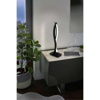 Flur Konsolentisch mit Eiche furniert und Schwarz lackiert 140 cm breit