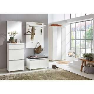 Freischwinger Stuhl Set aus Webstoff und Kunstleder Metallgestell (2er Set)
