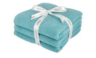 VOSSEN Handtuch, 3er-Set  Smart Towel ¦ blau ¦ 100% Baumwolle Badtextilien und Zubehör > Handtücher & Badetücher > Handtücher - Höffner