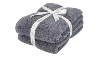 VOSSEN Duschtuch, 2er-Set  Smart Towel ¦ grau ¦ 100% Baumwolle Badtextilien und Zubehör > Handtücher & Badetücher > Handtücher - Höffner