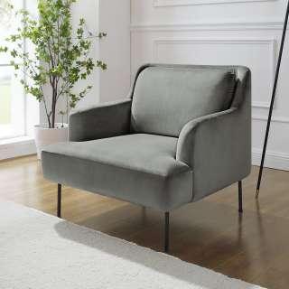 Sessel in Blau Webstoff Wippfunktion