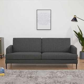 Zweisitzer Sofa in Anthrazit Webstoff Armlehnen