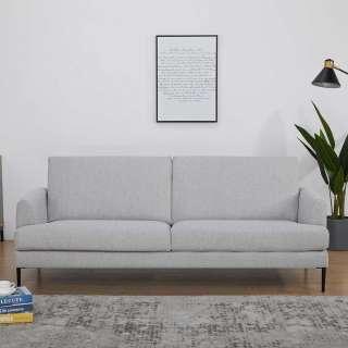 Sitzsofa in Beige Webstoff 40 cm Sitzhöhe