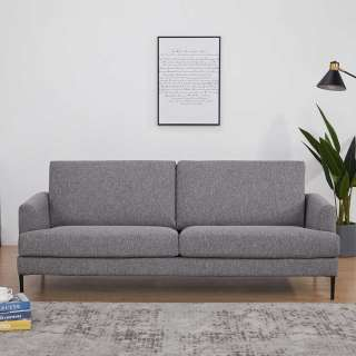 Couch in Taupe Webstoff 40 cm Sitzhöhe