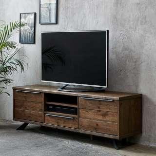 Fernsehboard in Wildeiche dunkel und Schwarz 170 cm breit