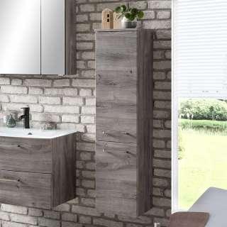 Badezimmerhochschrank in Eiche Grau 30 cm breit