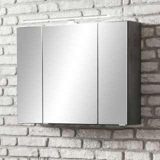 Badezimmerspiegelschrank in Dunkelgrau 3 türig