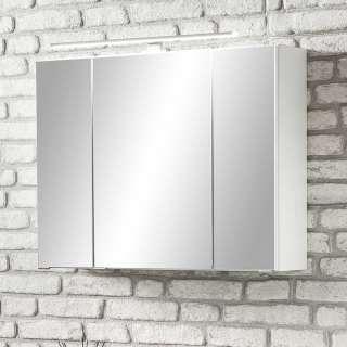 Bad Spiegelschrank in Weiß 80 cm breit
