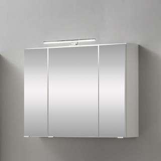 Badezimmerspiegelschrank in Weiß 80 cm breit