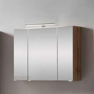 Badezimmer Spiegelschrank in Wildeichefarben 80 cm breit