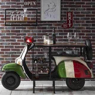 Design Bartisch im Motorroller Style Bunt lackiert