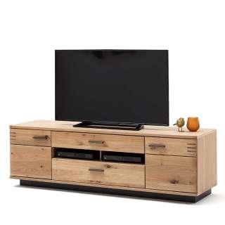 Fernsehboard in Balkeneiche Bianco furniert 180 cm breit