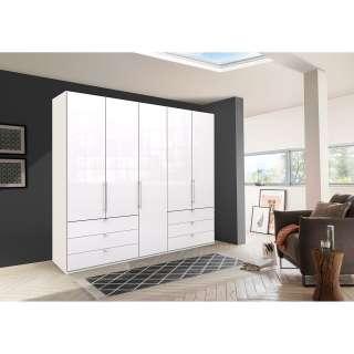 Wohnzimmerregal in Weiß und Kiefer Honigfarben Landhausstil