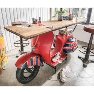Designertische im Motorroller Style Rot und Blau lackiert