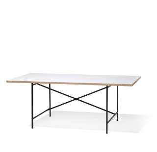 Richard Lampert - Eiermann 1 Schreibtisch - Tischplatte weiß - Gestell schwarz - 180 x 90 cm - indoor