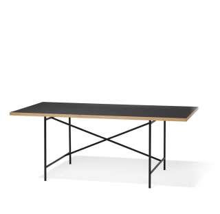 Richard Lampert - Eiermann 1 Schreibtisch - Tischplatte schwarz - Gestell schwarz - 180 x 90 cm - indoor