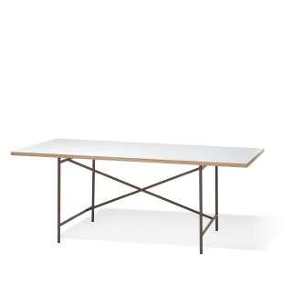 Richard Lampert - Eiermann 1 Schreibtisch - Tischplatte weiß - Gestell bronze - 180 x 90 cm - indoor