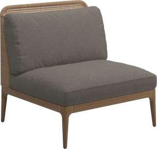 Wohnzimmer Sessel in dunkel Braun modern