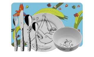 WMF Kinderbesteck-Set 7-teilig  Tommy ¦ Kunststoff, Edelstahl, Porzellan Besteck > Kinderbesteck - Höffner