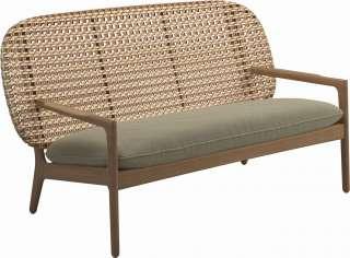 Sofa Beistelltisch Set in Wildeichefarben und Weiß quadratisch (2-teilig)