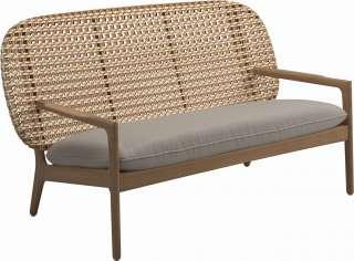Couch Beistelltisch Set aus Wildeiche Massivholz Stahl (3-teilig)