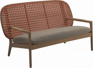 Gloster - Kay Sofa - Geflecht: Copper - Kissen:  - Blend Sand - outdoor
