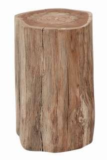 Sitzhocker aus Eiche Massivholz White Wash