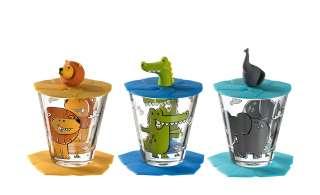 LEONARDO Kinder Trink - Set 9-tlg. Löwe / Krokodil / Elefant  Bambini ¦ GlasØ: 8.5 Gläser & Karaffen > Trinkgläser - Höffner