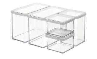 Rotho Vorratsdosenset,  5-teilig  Loft ¦ transparent/klar ¦ Kunststoff Küchenzubehör & Helfer > Vorratsbehälter - Höffner