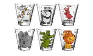 LEONARDO Kinderbecher, 6er-Set   Bambini ¦ transparent/klar ¦ GlasØ: 8.5 Gläser & Karaffen > Trinkgläser - Höffner