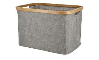 Aufbewahrungsbox ¦ grau ¦ Metall, Polyester, Bambus Aufbewahrung > Körbe - Höffner