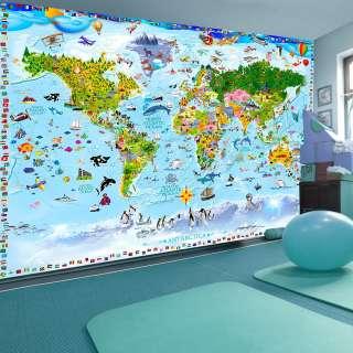 home24 Vlies Fototapete World Map for Kids