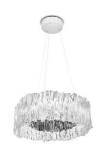 SLAMP - Accordeon Hängeleuchte  - silver - indoor