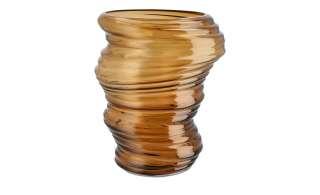 Vase ¦ braun ¦ Glas Ø: 20.8 Dekoration > Vasen - Höffner