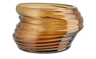 Vase ¦ braun ¦ Glas Ø: 20.5 Dekoration > Vasen - Höffner