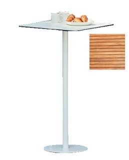 Jan Jurtz - Way Tisch - Platte Teak natur - 70 x 70 cm - Gestell weiß - Säule 5 x 5 cm - indoor
