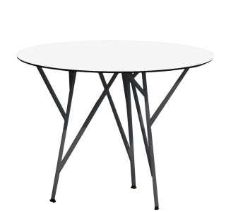 Jan Kurtz - Astwerk Tisch - rund - schwarz/weiß - indoor